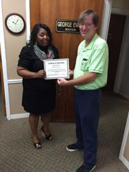 Mayor's assistant recognized with award