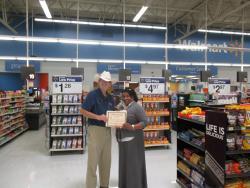 Wal-Mart in Selma, Alabama makes donation to VIP