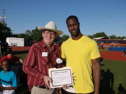 NFL's Michael Johnson receives community service award